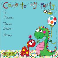 Party Invite Dinosaurs
