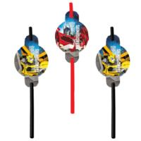 Transformers Party Straws