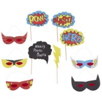 Comic Superhero - Photobooth Props