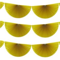 Summer Fruits - Hanging Fan Decorations - Yellow