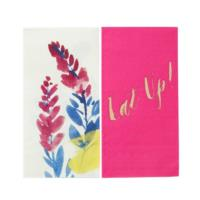 Fluorescent Floral Duo Napkins