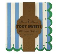 Toot Sweet Blue Large Napkins