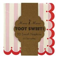Toot Sweet Pink Small Napkins