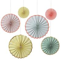 Pinstriped Pinwheel Decorations