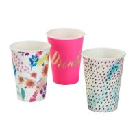 Fluorescent Floral Large Cups
