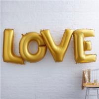 Giant Gold Love Balloon