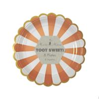 Toot Sweet Small Orange Striped Plate