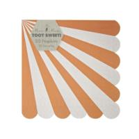 Toot Sweet Orange Stripe Small Napkin