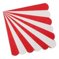 Red Stripe Napkin Large