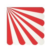 Red Stripe Napkin Small