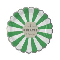 Green Stripe Plate Small