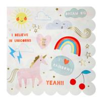 Rainbow & Unicorn Large Napkin