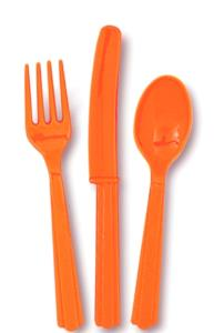 Pumpkin Orange Cutlery