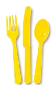 18 Sunflower Yellow Cutlery