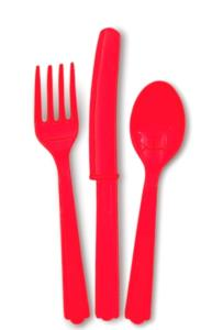 Ruby Red Cutlery