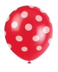 Red Balloons Polka Dots