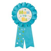 Mom To Be Award Ribbon Blue