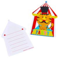 Circus Invitations and Envelopes