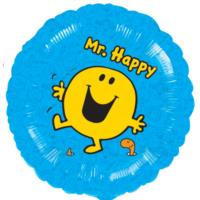 Mr Happy Round Blue Balloon - 18
