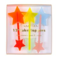 Neon Acrylic Star Toppers