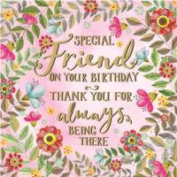 Special Friend Birthday Card
