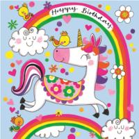 Happy Birthday Unicorn & Rainbows