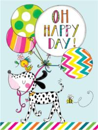 Oh Happy Day - Dog & Balloons