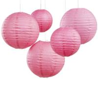 Fuschia Paper Lantern Decorations