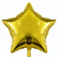 Gold Star Foil Balloon 19