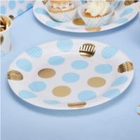 Party Plate Blue Dots