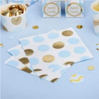 Party Napkin Blue Dots