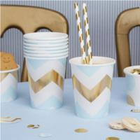 Party Cup Blue Chevron