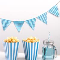 Carnival Blue Waves Bunting