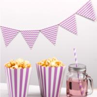 Carnival Purple Waves Bunting