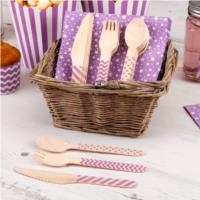 Carnival Purple Cutlery Set