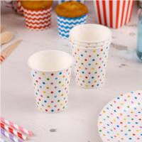 Carnival Multicoloured Dotty Cups
