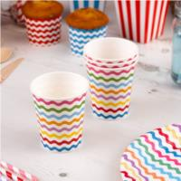 Carnival Multicoloured Waves Cups