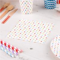 Carnival Multicoloured Dotty Napkins