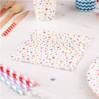 Carnival Multicoloured Stars Napkins