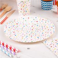 Carnival Multicoloured Stars Plates