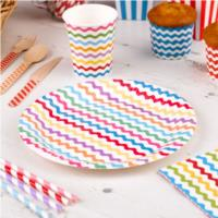 Carnival Multicoloured Waves Plates