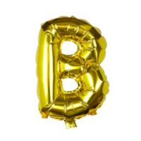 Gold Foil Letter B Balloon