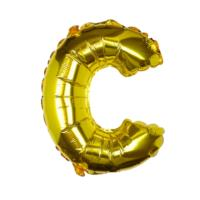 Gold Foil Letter C Balloon