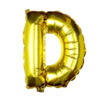 Gold Foil Letter D Balloon