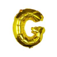 Gold Foil Letter G Balloon