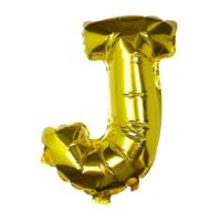 Gold Foil Letter J Balloon