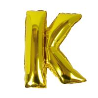 Gold Foil Letter K Balloon