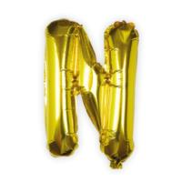 Gold Foil Letter N Balloon