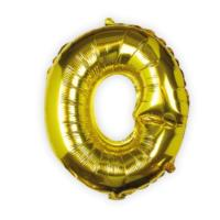 Gold Foil Letter O Balloon