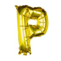 Gold Foil Letter P Balloon